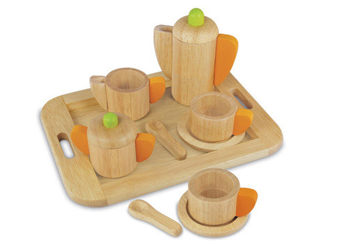 best kid's tea sets - I'm Toy wooden tea set