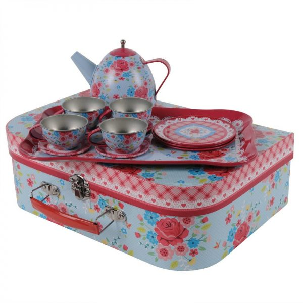 best kid's tea sets - Tiger Tribe vintage tin tea set