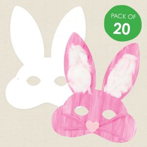 baby and kids Easter gift guide - cardboard bunny masks