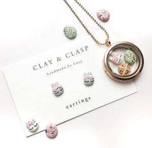 baby and kids Easter gift guide - clay and clasp Easter jewellery