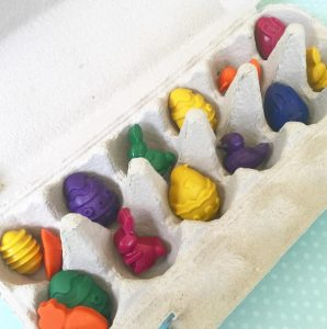 baby and kids Easter gift guide - handmade Easter crayons