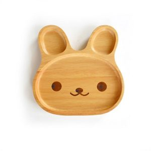 baby and kids Easter gift guide - wooden bunny plate