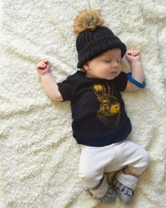 baby and kids Easter gift guide - indie and sloan bunny tee