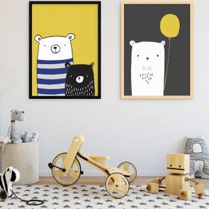 fantastic baby and kids gifts - bear buddies print