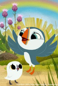 who voices that cartoon character - puffin rock