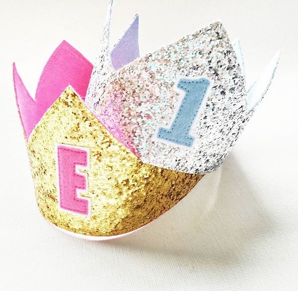 new gift ideas - glitter birthday crowns