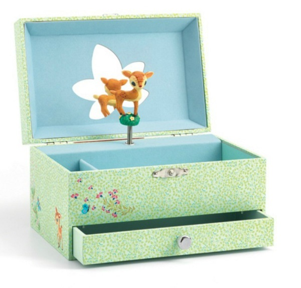 gift ideas for kids - Djeco music box - fawn