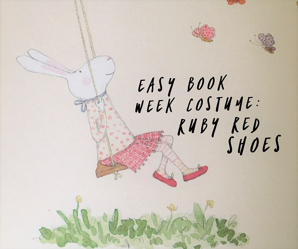 Easy Book Week costume - Ruby Red Shoes FB cover