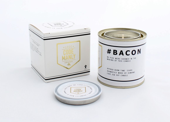 Fun gifts for Dad - bacon candle