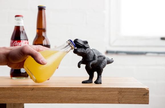 Fun gifts for Dad - dinosaur bottle opener