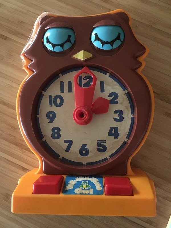 Toys my mum kept - Tell the Time Owl