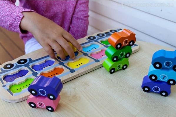 October gift finds - car wooden puzzle in action