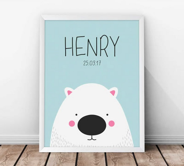 October gift finds - personalised wombat print