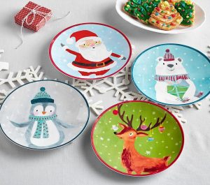 christmas themed gifts - christmas plates