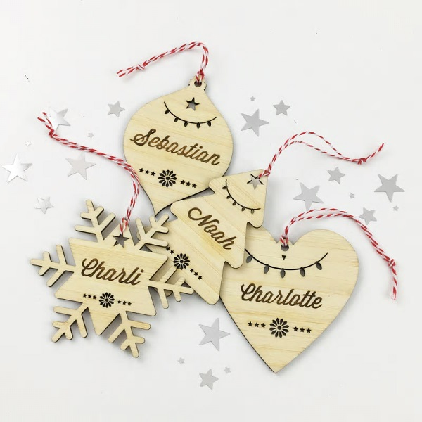 christmas themed gifts - personalised ornament