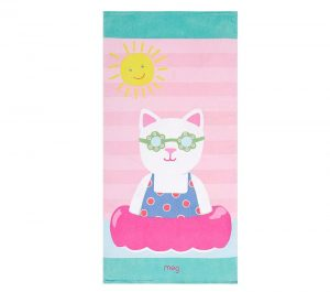 Four to six year old gift ideas - Classic Kitty Beach Towel