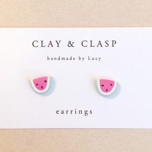 Seven to nine year old gift ideas - Clay and Clasp watermelon earrings