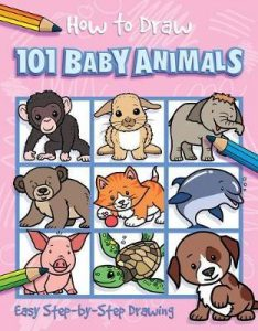 Seven to nine year old gift ideas - how to draw 101 baby animals