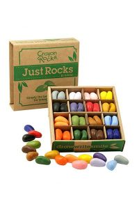 Three year old gift ideas - Crayon Rocks just rocks in a box