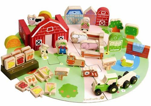 Two year old gift ideas - Ever Earth Organic Farm block set