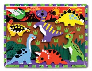 Two year old gift ideas - chunky dinosaur puzzle