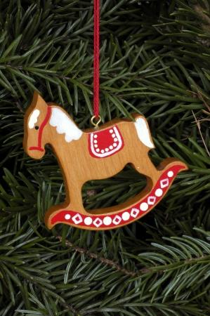 Nordic rocking horse ornament