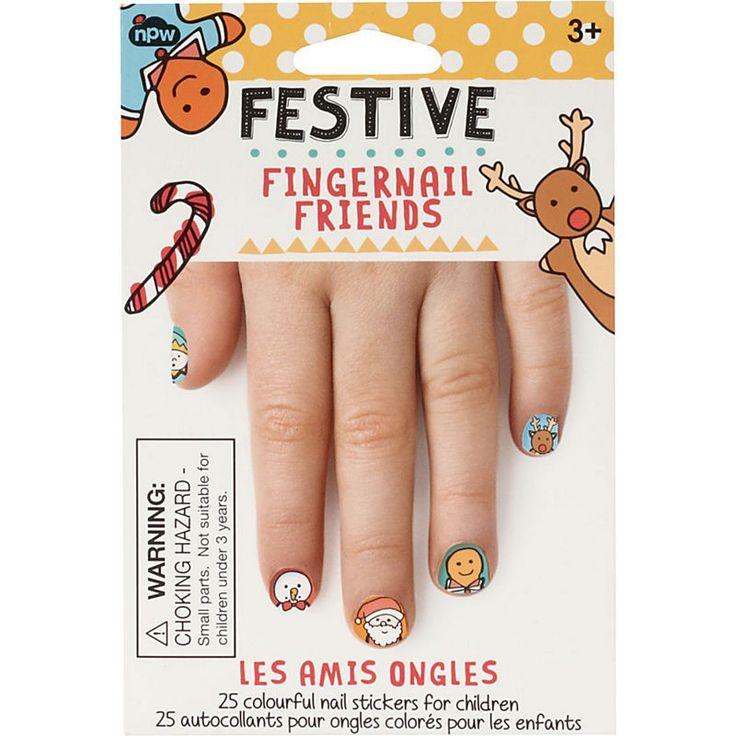 festive fingernail friends