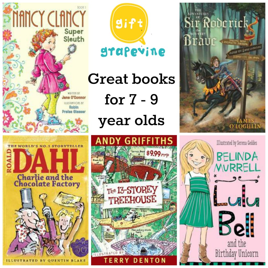 Book Gift Ideas - Gift ideas for 7 to 9 year olds - Gift Grapevine