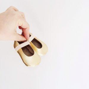 H&D ballet moccs in gold