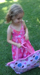 Miss TT with Penny Scallan tote bag
