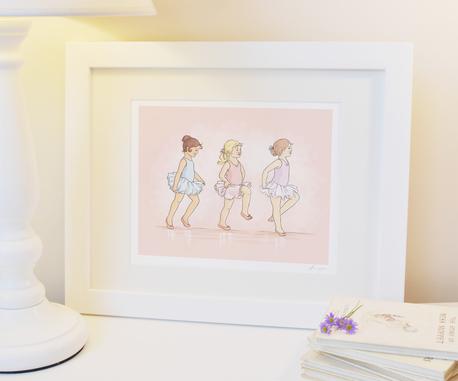 little ballerinas print