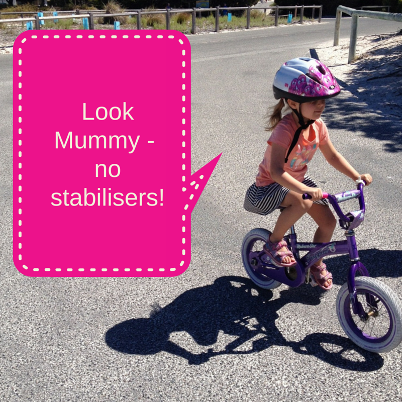 Look Mummy – no stabilisers!