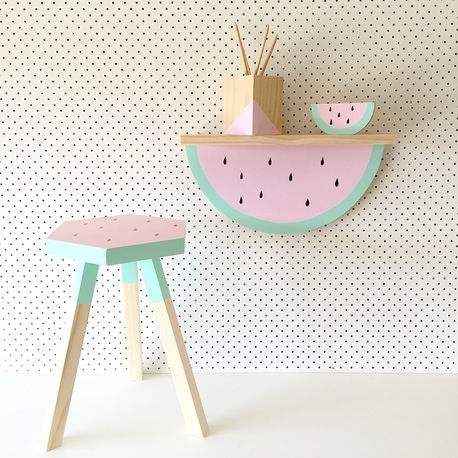 watermelon stool and shelf