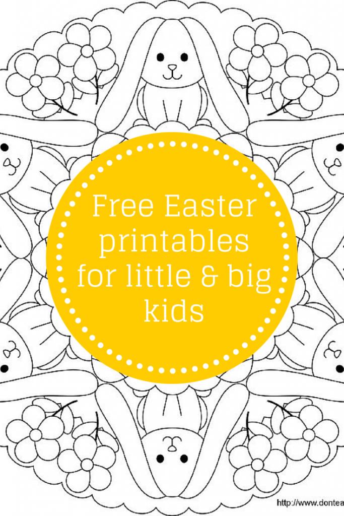 Free Easter printables blog post