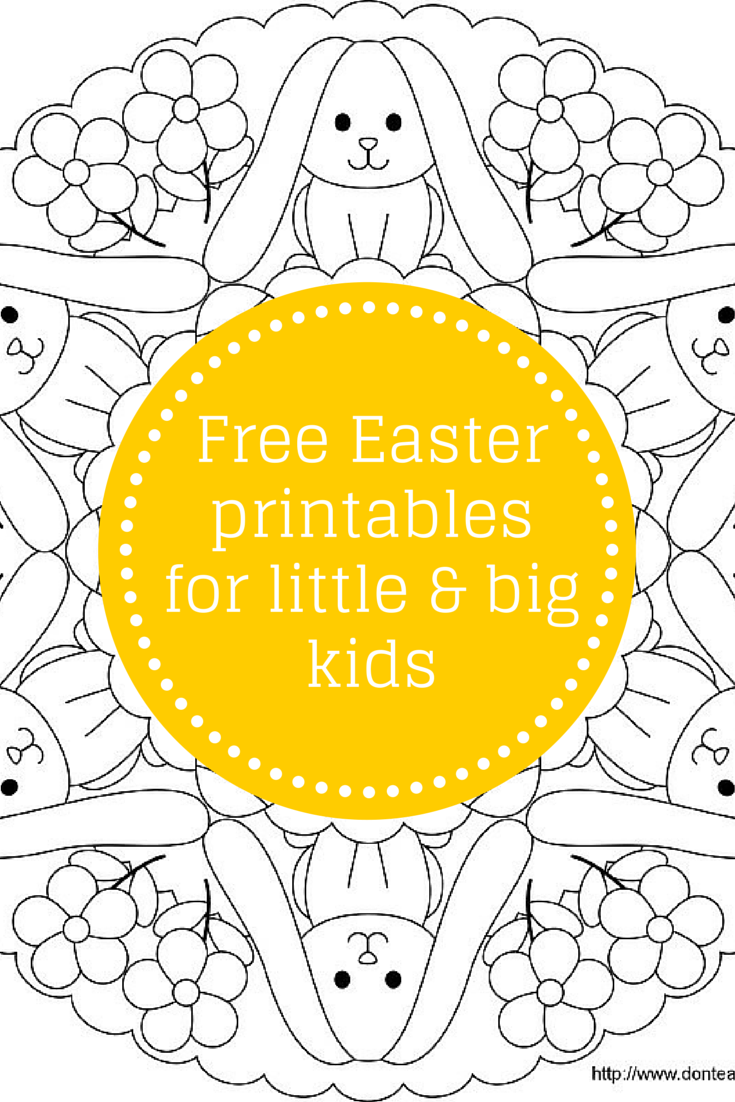 Free Easter printables for little and big kids