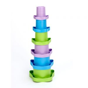green toys stacking cups tower