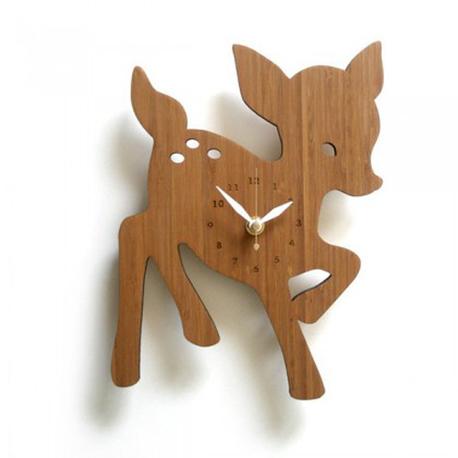 bamboo deer clock