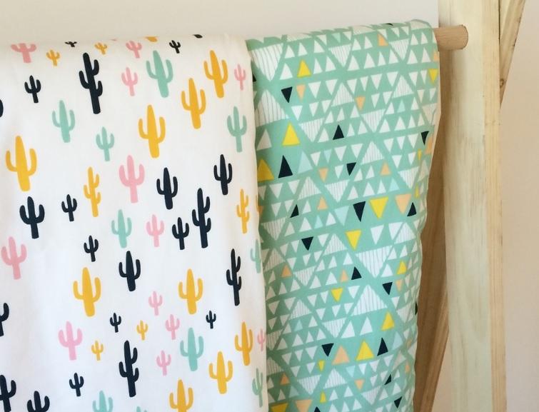 pipnpop geo cactus quilt