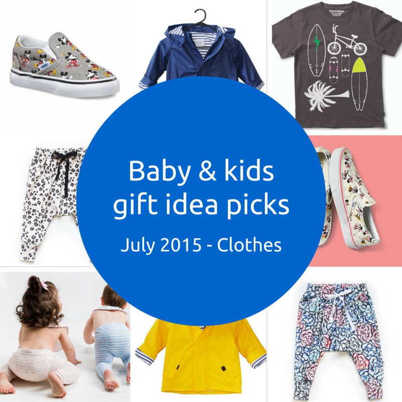 Baby and kids gift idea picks – July 2015 – Clothes