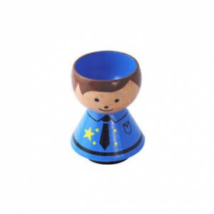 Lucie Kaas egg cup - policeman boy