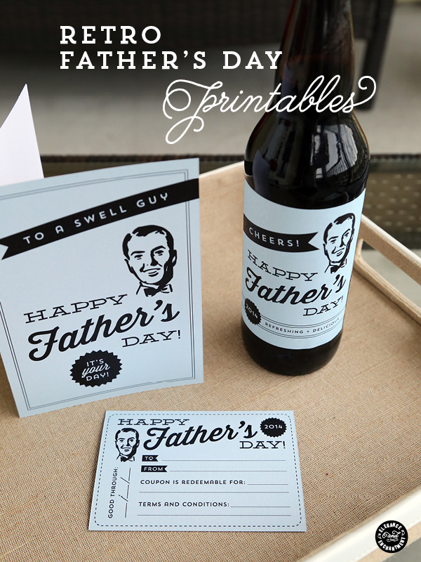 retro fathers day free printables