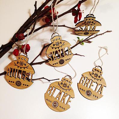 bamboo christmas ornaments