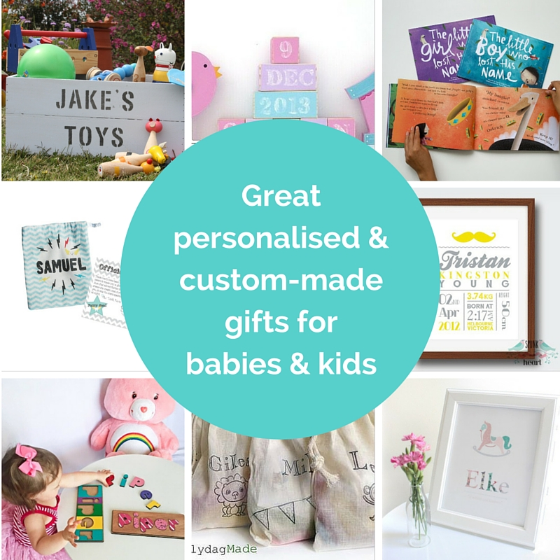 Great personalised & custom-made gifts for babies & kids