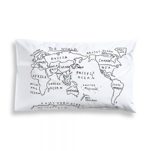 World-Map-Pillowcase