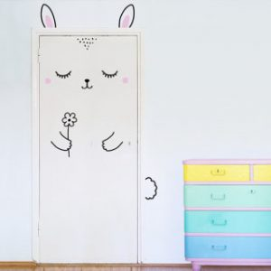 door decal - bunny