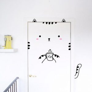 door decal - cat