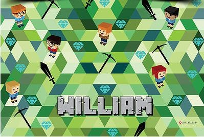 minecraft personalised placemat