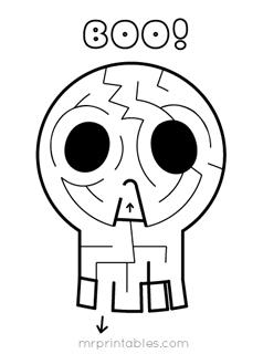 printable-maze-skull
