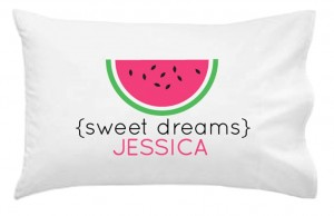 watermelon pillowcase