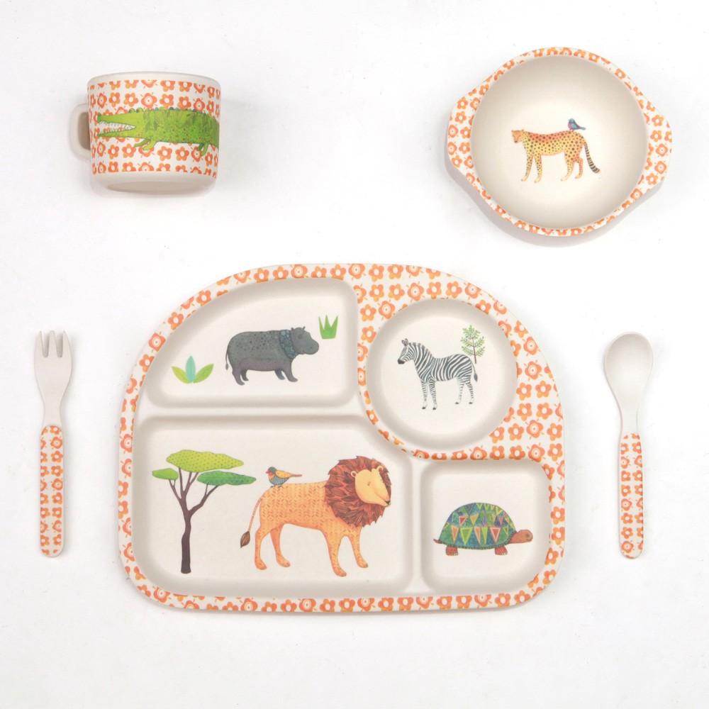 Love Mae bamboo safari dinner set